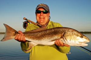 "33"" redfish caught on fly"