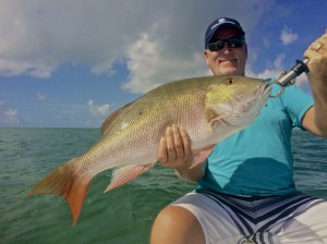 Mutton snapper caught while permit fishing